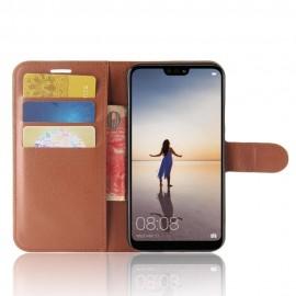 Etuis Portefeuille Huawei P20 Lite Simili Cuir Marron