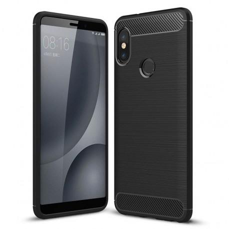 Coque Silicone Xiaomi MI A2 Brossé Noir