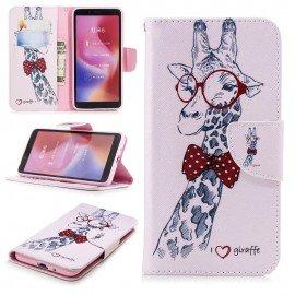 Etuis Portefeuille Xiaomi Redmi 6 Girafe
