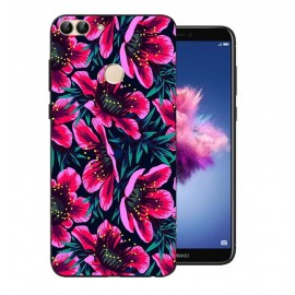 Coque Silicone Huawei P Smart Fleur