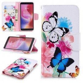 Etuis Portefeuille Xiaomi Redmi 6 Papillon