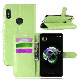 Etuis Portefeuille Xiaomi MI A2 Simili Cuir Verte