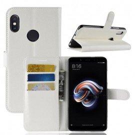 Etuis Portefeuille Xiaomi MI A2 Simili Cuir Blanche