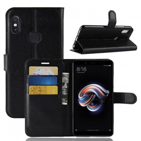 Etuis Portefeuille Xiaomi MI A2 Simili Cuir Noir