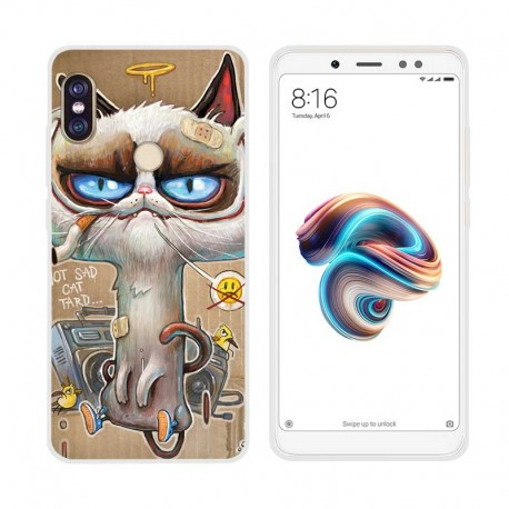 Coque Silicone Xiaomi MI A2 Vilain Chat