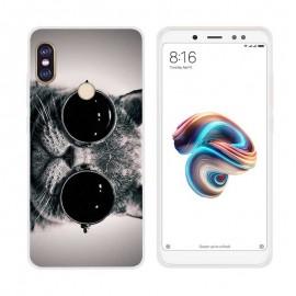 Coque Silicone Xiaomi MI A2 Chat a Lunettes