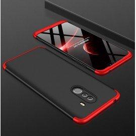 Coque 360 Xiaomi Pocophone F1 Noir et Rouge
