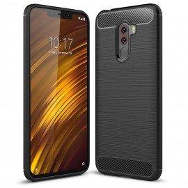 Coque Silicone Xiaomi Pocophone F1 Brossé Noir