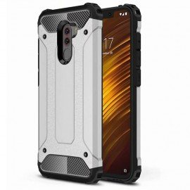 Coque Xiaomi Pocophone F1 Anti Choques Argent