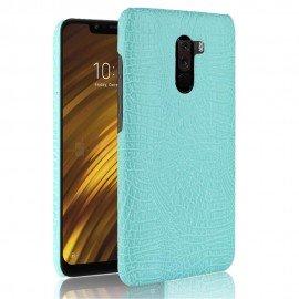 Coque Xiaomi Pocophone F1 Croco Cuir Turquoise