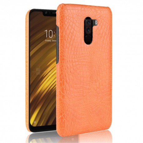 Coque Xiaomi Pocophone F1 Croco Cuir Orange