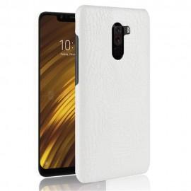Coque Xiaomi Pocophone F1 Croco Cuir Blanche