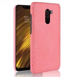 Coque Xiaomi Pocophone F1 Croco Cuir Rose