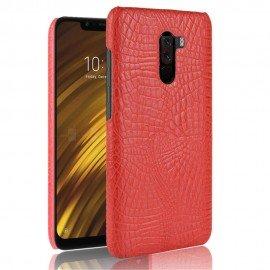 Coque Xiaomi Pocophone F1 Croco Cuir Rouge