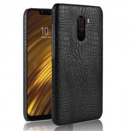 Coque Xiaomi Pocophone F1 Croco Cuir Noir
