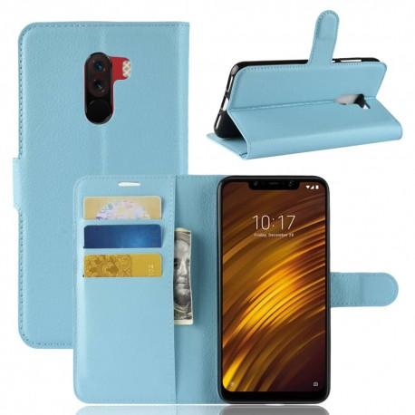 Etuis Portefeuille Xiaomi Pocophone F1 Simili Cuir Bleu