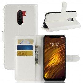 Etuis Portefeuille Xiaomi Pocophone F1 Simili Cuir Blanche