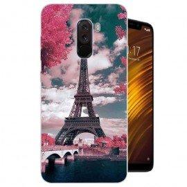 Coque Silicone Xiaomi Pocophone F1 Tour Eiffel