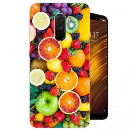 Coque Silicone Xiaomi Pocophone F1 Fruits