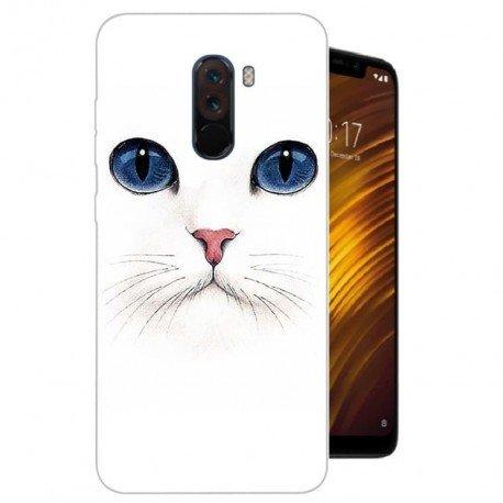 Coque Silicone Xiaomi Pocophone F1 Chat Blanc