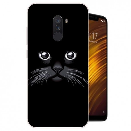 Coque Silicone Xiaomi Pocophone F1 Chat Noir
