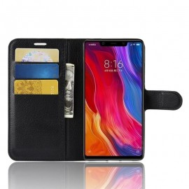 Etuis Portefeuille Xiaomi MI 8 SE Simili Cuir Noir