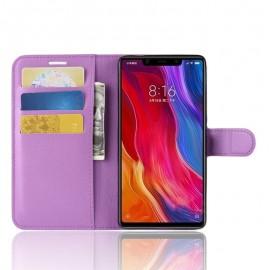 Etuis Portefeuille Xiaomi MI 8 SE Simili Cuir Lila