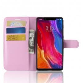 Etuis Portefeuille Xiaomi MI 8 SE Simili Cuir Rose