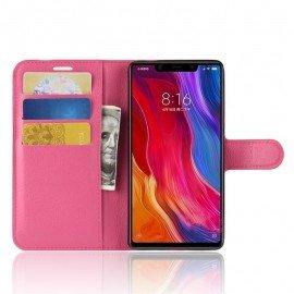 Etuis Portefeuille Xiaomi MI 8 SE Simili Cuir Fushia
