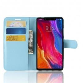 Etuis Portefeuille Xiaomi MI 8 SE Simili Cuir Bleu
