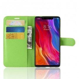 Etuis Portefeuille Xiaomi MI 8 SE Simili Cuir Vert
