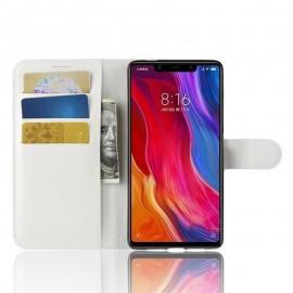 Etuis Portefeuille Xiaomi MI 8 SE Simili Cuir Blanc