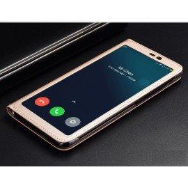 Etuis Xiaomi MI 8 SE Portefeuille Vision Doré