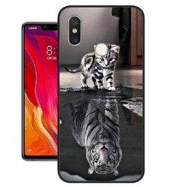 Coque Silicone Xiaomi MI 8 SE Chat Mirroir