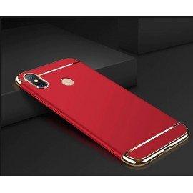 Coque Xiaomi MI 8 Rigide Chromée Rouge