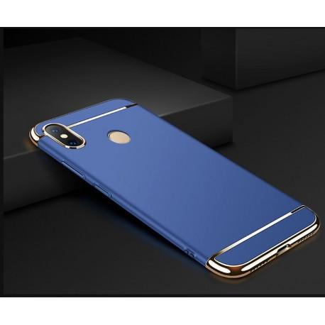 Coque Xiaomi MI 8 Rigide Chromée Bleu