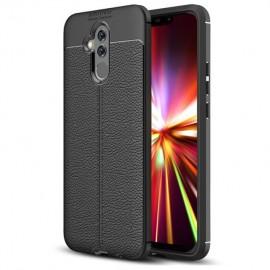 Coque Silicone Huawei Mate 20 Lite Cuir 3D Noir