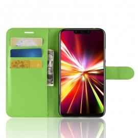 Etuis Portefeuille Huawei Mate 20 Lite Simili Cuir Vert
