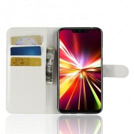 Etuis Portefeuille Huawei Mate 20 Lite Simili Cuir Blanc