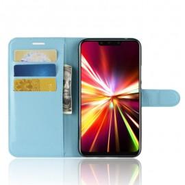 Etuis Portefeuille Huawei Mate 20 Lite Simili Cuir Bleu