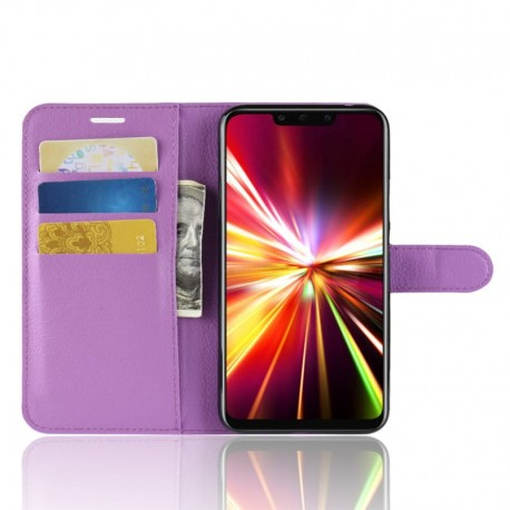 Etuis Portefeuille Huawei Mate 20 Lite Simili Cuir Lila