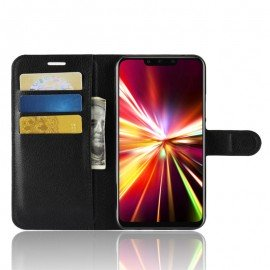 Etuis Portefeuille Huawei Mate 20 Lite Simili Cuir Noir