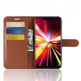 Etuis Portefeuille Huawei Mate 20 Lite Simili Cuir Marron