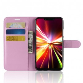 Etuis Portefeuille Huawei Mate 20 Lite Simili Cuir Rose