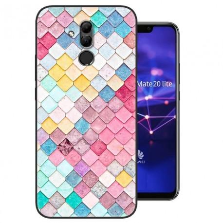 Coque Silicone Huawei Mate 20 Lite Aquarelles