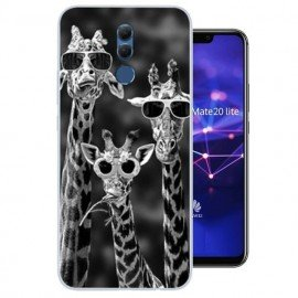 Coque Silicone Huawei Mate 20 Lite Girafes