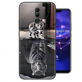 Coque Silicone Huawei Mate 20 Lite Chat Mirroir