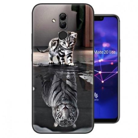 Coque Silicone Huawei Mate 20 Lite Chat Mirroir