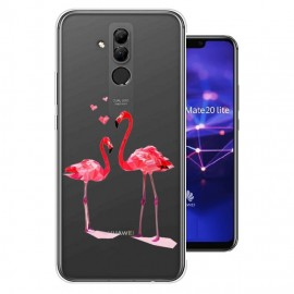 Coque Silicone Huawei Mate 20 Lite Flamands Roses