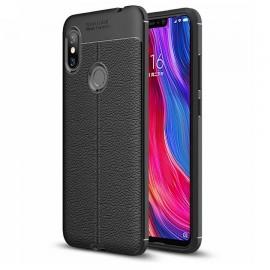 Coque Silicone Xiaomi Redmi Note 6 Pro Cuir 3D Noir